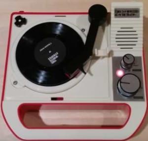 Der Triple Inchophone - einer der letzten Mini-Plattenspieler